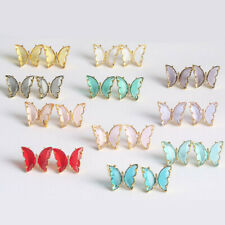 Crystal Butterfly Stud earrings Gold Plated High Quality Mariposa