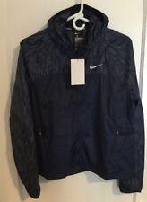 Nike Women's Shield Flash Running Jacket Windbreaker Windrunner 799885 410 Blue