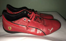 NICE! Puma Mens Ferrari Cat Ultra Sneaker Red Leather Sneakers Size 10 FREE SHIP