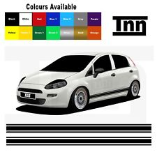 Side Stickers Stripes Decals Vinyl For Abarth Fiat Punto Evo Grande 5DR 3DR