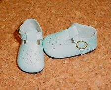 Doll Shoes LIGHT BLUE 44mm T-Straps for Ellowyne, Patience & NuMood
