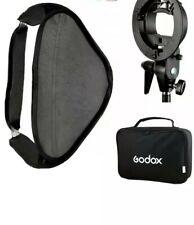 US Godox SFUV 60x60cm Foldable Studio Softbox S-Type Bracket with free flash