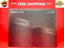 BRAND NEW SONOS One SL SHADOW Edition SMART VOICE CONTROL SPEAKERS BLACK- 2 PACK