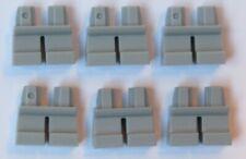 LEGO 6 Short Minifigure  Figure Legs Leg Medium Stone Grey