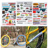 3 Sheet Car Bicycle Cycling Sticker MTB Bike Skateboard Decal DIY Stickers