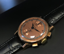 BREITLING watch chronograph vintage gold 18k Heuer