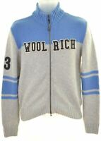 WOOLRICH Boys Cardigan Sweater 11-12 Years Grey Wool  HE15