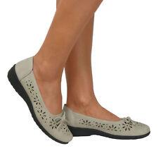 Zapatos planos de mujer Beige Talla 40