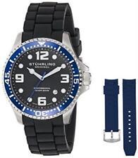 Stuhrling  675.01 675 01 SET Aquadiver Swiss Quartz Blue Accented Mens Watch Set