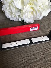 New Genuine 20MM Cartier Santos 100 White Rubber Strap Replacement Band MX005T56