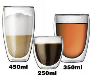 Double Wall Insulated Glasses Thermal Coffee Glass Mug Tea Cup 80/250/350/450ml