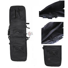 "Tactical 39"" 2-Layer Carbine Rifle Weapons Gun Fishing Rod Tackle Case Bag Black"