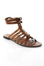 Sam Edelman Brown Leather Strappy Gladiator Ankle Strap Sandals Size 8.5