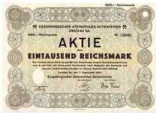 Erzgebirgischer Steinkohlen - Aktienverein  1932  Zwickau Sachsen