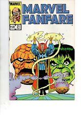 MARVEL FANFARE #21(MARVEL 1985)DR STRANGE/HULK/THING-VF/NM