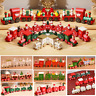 Wooden Christmas Train Ornament Toy Santa Claus Gift Table Decor New Year 2020