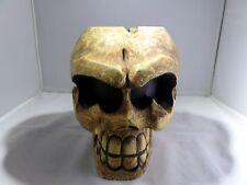 Carved Wooden Ashtray Skull