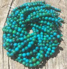 "8mm Natural Azurite Chrysocolla 15"" Strand Round Beads Oz Seller"