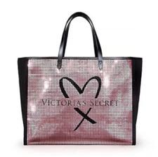 Victorias Secret Pink Sequin Showstopper Tote Shoulder Weekend Bag Limited New