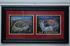 SAN FRANCISCO 49ERS OLD AND NEW STADIUM DOUBLE IMAGE FRAMED