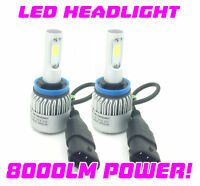 H11 COB LED Headlight Bulbs Kit 8000 Lumens Canbus 100W For Nissan Micra 17-On