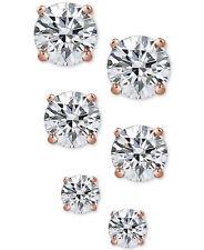 Giani Bernini Sterling Silver Crystal Stud Trio Earrings NWT $60