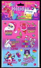 Vtg LISA FRANK Holiday Silly Senders stickers unopened #4 Christmas unicorn +