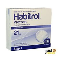 STEP 1 HABITROL TRANSDERMAL NICOTINE PATCH (21mg, 1 box, 28 patches) FRESH