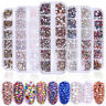 1440Pcs Flat Back 3D Nail Art Rhinestones AB Crystal Strass Manicure Gems Tips