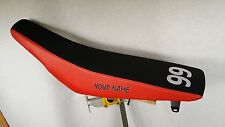 HONDA CRF 450R  GRIPPER SEAT COVER NAME AND NUMBER FITS  2009 - 2012 BLKRED/GRIP