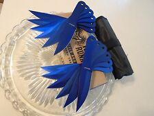 "Ridge Runner Blue Tini 12 Pc Throwing Knife/Knives Set w Roll Sheath 679 6"" OA"