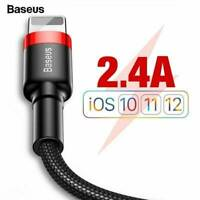 Baseus Fast Charging Braided USB Cable For iPhone XS Max XR X 8 7 6 5 SE iPad