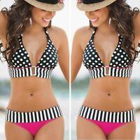 2019 Women Bikini Bandage Swimwear Bandeau Push-Up Padded Bra Swimsuit Beachwear