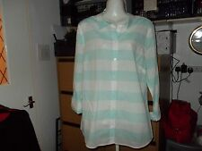 George Collared Casual Striped Tops & Shirts for Women
