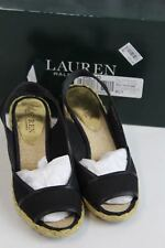 Lauren Ralph Lauren Womens US 6 B Shoes Catrin Wedge Heel Black Canvas $69.00