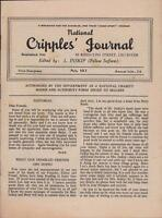 National Cripples Journal. Leicester. Hilda Roscoe. Arthur Lees.     W.39