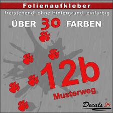 HN7 - Hausnummer Türschild Aufkleber  - Schild/Briefkasten/Nummern/Straße/Pfoten