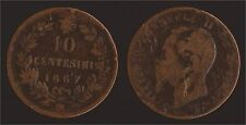 10 CENTESIMI 1867 .OM. STRASBURGO - VITTORIO EMANUELE II