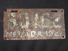 Vintage 1921 Nevada License Plate #60162 (maybe a homemade plate)