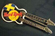 HRC Hard Rock Cafe Stockholm Black Doubleneck Guitar 1997 LE