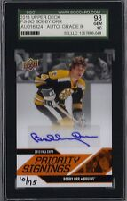 BOBBY ORR - 2013 Upper Deck Priority Signings Fall Expo PS-80 SGC 98 GEM Auto 10