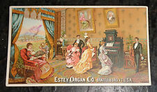 graphic victorian  trade card advertising Estey Organ Co