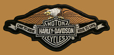 HARLEY DAVIDSON  LIVE TO RIDE BANNER EAGLE PATCH (XL) HARLEY PATCH
