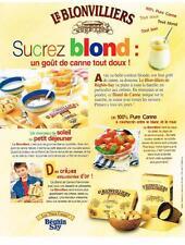 PUBLICITE ADVERTISING  2000   BEGHIN SAY  sucre de canne LE BLONVILLIERS