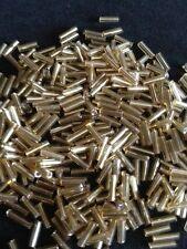 50g cristal corneta cuentas Dorado revestimiento de plata aprox. 6mm tubos,