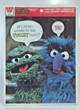 Vintage 1977 Sesame Street Oscar The Grouch Herry Monster Puzzle Whitman HTF