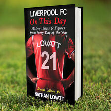 LIVERPOOL Football Club FC Personalised On This Day BOOK Facts Anfield CHRISTMAS