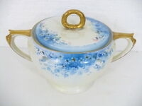 Hutschenreuther Gelb M. Vivien Fine Bone China Covered Sugar Bowl - Bavaria