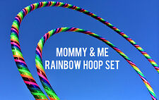 Mommy & Me Love & Light Dance & Exercise Hula Hoop COLLAPSIBLE rainbow glitter