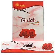 180g varillas de incienso Aromatika Gulab rosa decoración aroma meditación hogar